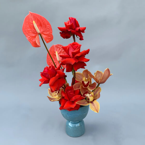 Cherry Bomb Vase Arrangement