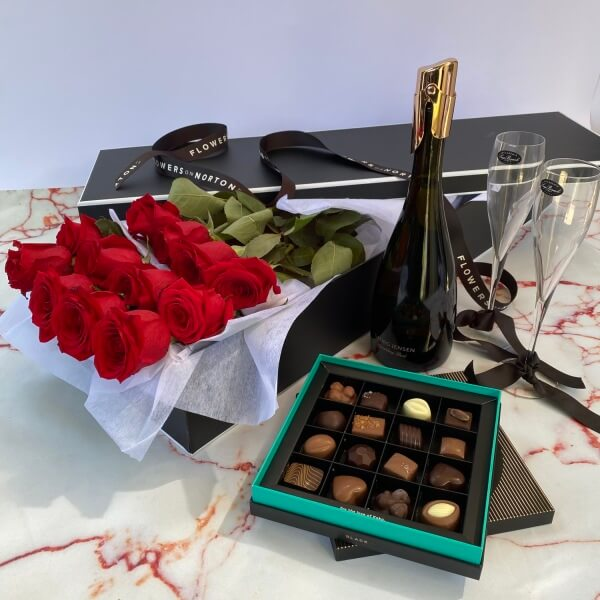 Bubbles, Roses and Chocolate